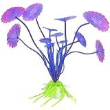 Umiwe(TM) Decoration Lifelike Purple Plastic Simulated Sea Plants/Marine Plants/Flora for Aquarium Fish Tank With Umiwe Accessory Peeler