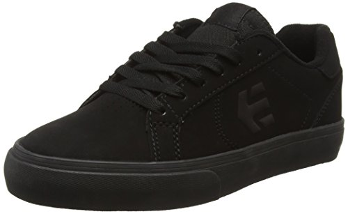 Etnies Men's Fader Ls Vulc Skateboarding Shoe, Black/Black/Black, 9 M US