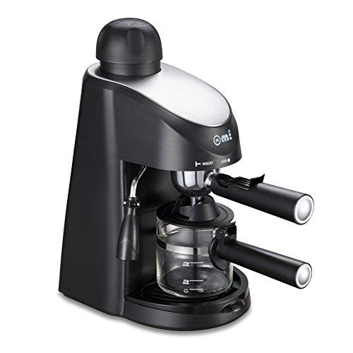 Omi CM6816 3.5 Bar Steam Espresso and Cappuccino Coffee Maker - Black Color