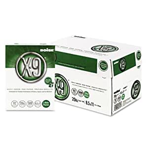 Boise OX9001P X-9 Copy 3-Hole Punched Paper, 92 Brightness, 20lb, Letter (8 1/2 x 11), White, 5000/Carton