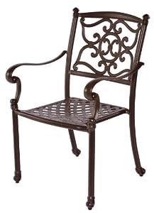 Meadow Decor 2622-58 Kingston Patio Dining Chair, Walnut