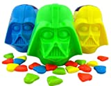 Pack of 3 - Dark Side of the Force Darth Vader Head Candy Filled Eggs for Easter Basket