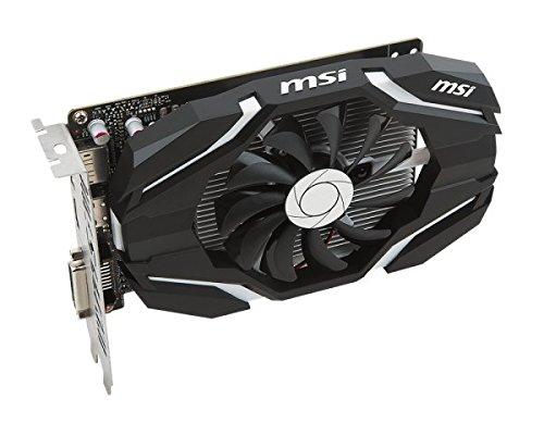 MSI NVIDIA GeForce GTX 1050 Ti 4G OC 4 GB GDDR5 128 bit Memory HDMI/DP/DVI PCI Express 3 Graphics Card - Black