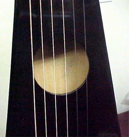 The Guitar Store Black Backpacker Travel Acoustic Guitar