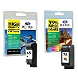2 Compatible Remanufactured Printer Ink Cartridges - Replaces HP 45 / HP 78 - Black+Tri-Colour. HP Deskjet 930c 932c 935c 950c 952c 955c 959c 960c 960cse 960cxi 970cse 970cxi 980c 980cxi 990c 990cm 990cse 990cxi 995c 1180c 1220c 1220cse 1220cxi 1220ps 12
