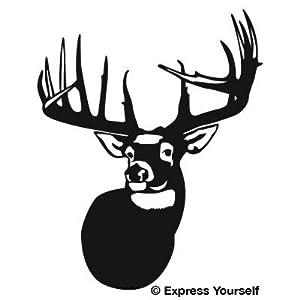 Amazon.com: The Legend Whitetail Deer (Black - Reverse Image - Mini