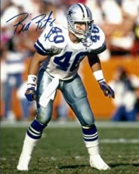 Bill Bates Autographed Dallas Cowboys 8x10 Photo