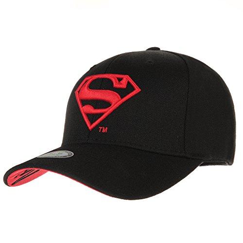 WITHMOONS Superman VS Batman Shield Embroidery Baseball Cap AC3260 (Black, L) (Superman Caps compare prices)