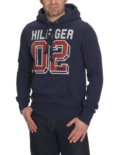 Tommy Hilfiger Mens Tommy Hilfiger Peacoat Ohio Hoody PEK Large