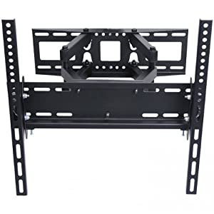 """VideoSecu Articulating TV Wall Mount Bracket for 26""""-55"""" LCD LED Plasma 3D TV with VESA up to 400x400, Full Motion Tilt Swivel Dual Arms BD4"""