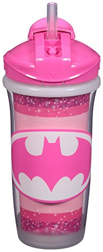 Playtex Sipsters Stage 3 Super Friends Straw Sippy Cups for Girls - 9 Ounce - 2 Count (Playtex Spill Proof Cup compare prices)