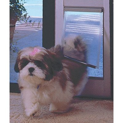 Ideal Pet Products Fast Fit Patio Door for Pets, Small, White (Sliding Glass Door Pet Door Small compare prices)