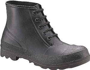 Honeywell Safety 73104-12 Servus Iron Duke Polyblend PVC 5-Eyelet Safety Shoe, Size-12, Black