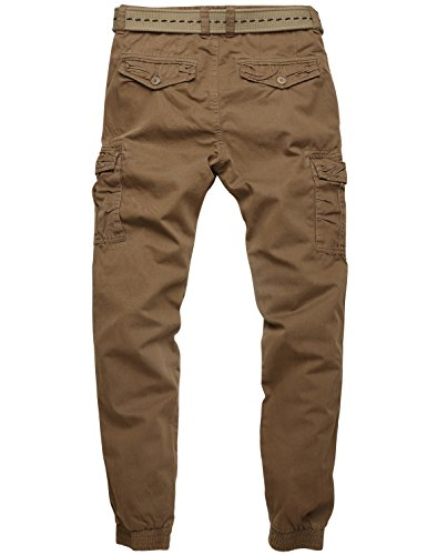 Match Men's Regular Fit Chino Jogger Cargo Pant (30W x 31L ...