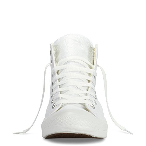 Converse Men's Chuck Taylor Leather High Top Sneaker White Monochrome (7)