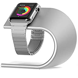 Apple Watch Stand, Camkey Iwatch Charging Stand Aluminum Charging Dock (Silver)