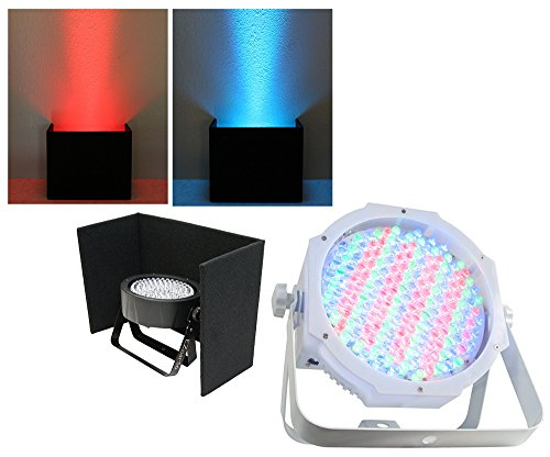 American Dj Lighting Jelly Go Par64 Rgba Led Compact Battery Powered Glow Wash With Black Up Light Cover Package