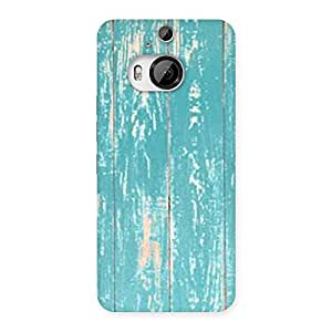 Cute CyanBlue Bar Texture Back Case Cover for HTC One M9 Plus