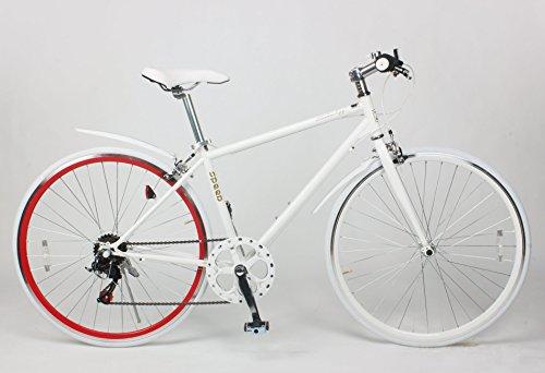 21Technology クロスバイク 6段変速 700×28C [CL266] ホワイトレッドリム