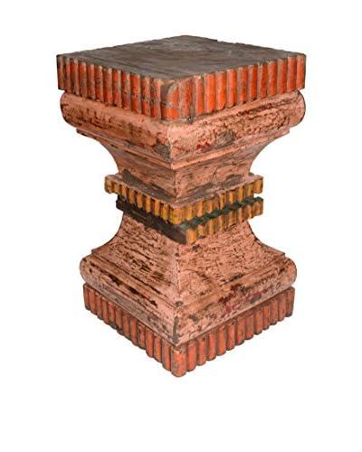 Uptown Down Hand-Carved Column Pedestal