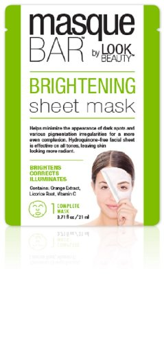 Masque Bar By Look Beauty, Brightening Sheet Mask - 3 Mask Sachets