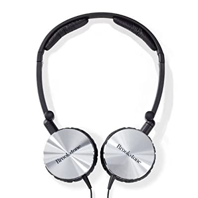Brookstone - Compact Noise Cancelling Headphones