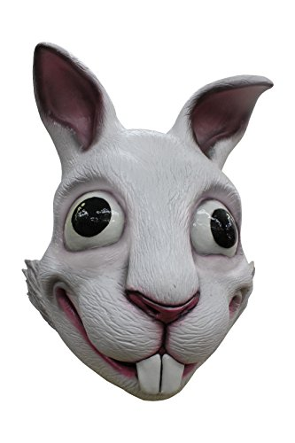White Rabbit Adult Latex Mask Vivid Cartoon Anime Cosplay Costume Accessory