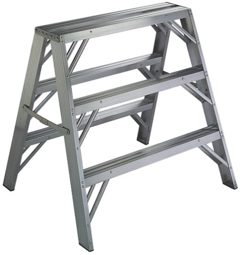Buy Werner 3-Foot 300-Pound Duty Rating Aluminum Twin Stepladder and Portable Work Stand #TW373-30