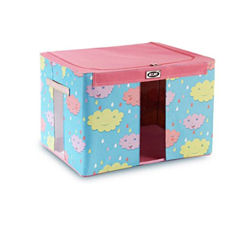 Cartoon Children'S Toy And Clothes Storge Box Desktop Boxes Storage Box Foldable Drawer Dividers Storage Boxes Two Pieces (Blue And Pink) front-627623