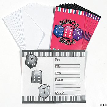 Bunco Invitations - 8 Pieces Per Set - 1