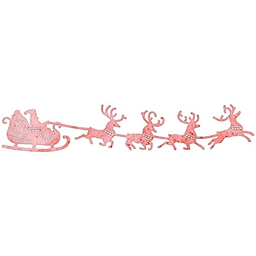 Santa's Sleigh and Reindeer Border Die