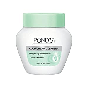 Pond's Cold Cream Cleanser Moisturizing Deep Cleanser and Make-Up Remover, 9.5-Ounce Jars (Pack of 3)