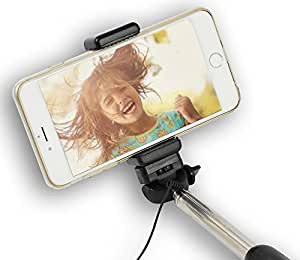 best monopod cable selfie stick wired battery free handheld selfie pro pole. Black Bedroom Furniture Sets. Home Design Ideas