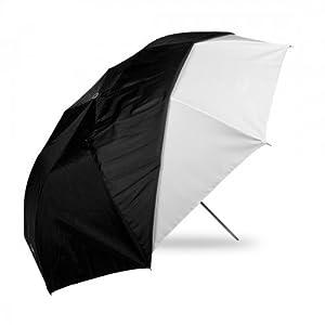 Westcott Parapluie pliable avec couvert noir amovible 109 cm Blanc (Import Royaume Uni)