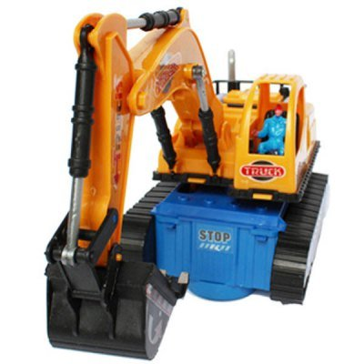 Best Brand Engineering Truck Electric Bulldozers Excavation Led Car Electric Truck Toy Battery Driven