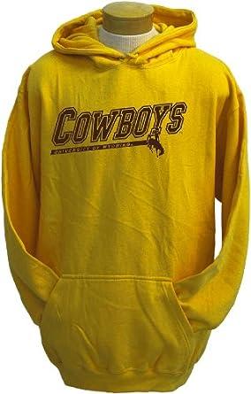 NCAA Mens Wyoming Cowboys Zooey Hooded Sweatshirt by CI Sport