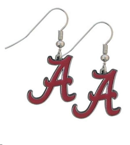 NCAA Alabama Crimson Tide Dangle Earrings at Amazon.com