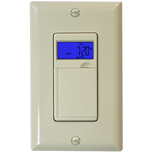 Enerlites HET01 Programmable Timer Switch for fan, light, Motor, 7-Day 18 ON/OFF, RND / DSL Mode, NEUTRAL WIRE REQUIRED - Ivory (Timer Outlet Switch compare prices)