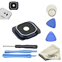 Ewparts for Samsung Galaxy S6 G920a ,G920f,g920p,g920t,g920v Camera Lens Cover Repair Part with Repair Tools Kit Color Blue