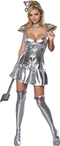 Secret Wishes Wizard Of Oz 75th Anniversary Edition, Tin Woman Costume, Silver, Medium