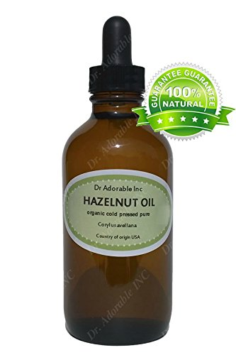Hazelnut Oil For Skin Care Moisturizes Massage Therapy And Aromatherapy 1.1 Oz Amber Glass Bottle With Glass Dropper front-1069816