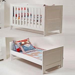 babybett gitterbett padborg umbaubar zum juniorbett 140x70cm wei neu k che. Black Bedroom Furniture Sets. Home Design Ideas