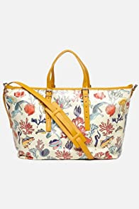 Anna Toile Large Horizontal Tote