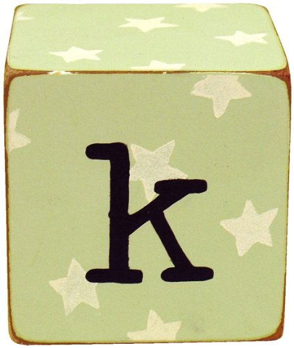 New Arrivals Letter Block K, Green/White - 1