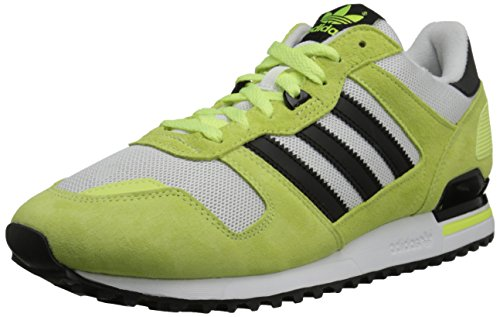 Adidas Originals Men's ZX 700 Lifestyle Running Sneaker, Light Flash Yellow/Core Black/White, 10 M US