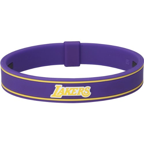 Phiten Nba X30 Bracelet Los Angeles Lakers, Purple, Medium, 6.75 Inch