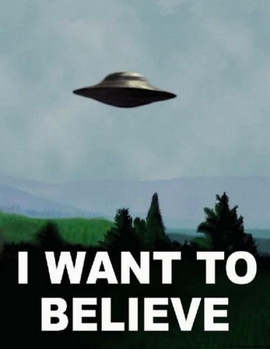 "Europe Style 1162 I Want To Believe - X Files Art Movie Film UFO 24x36"" Art Print Silk Poster"