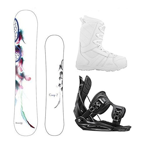 Camp Seven Dreamcather Womens Snowboard Package w/Flow Bindings<br />