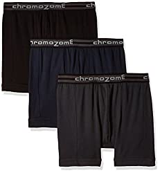 Chromozome Men's Cotton Trunk (Pack of 3) (8902733346641_TC 02_Small_Ash, Black and Navy)