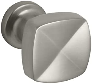 KOHLER K-16262-BN Margaux 1-1/4-Inch Knob, Vibrant Brushed Nickel